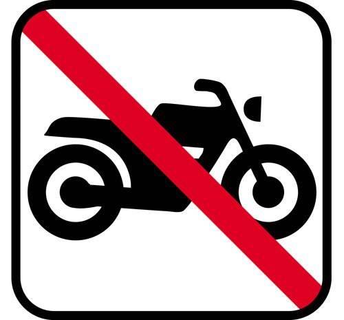Motorcykel forbud - piktogram skilt