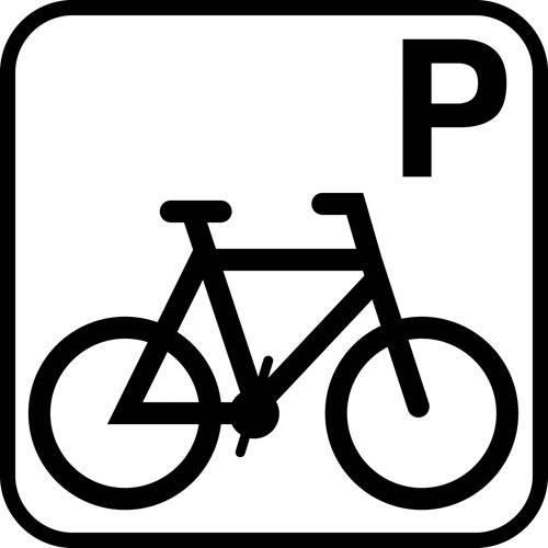 Cykel P - piktogram skilt