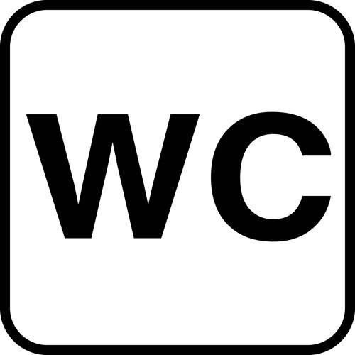 Piktogram WC. skilt