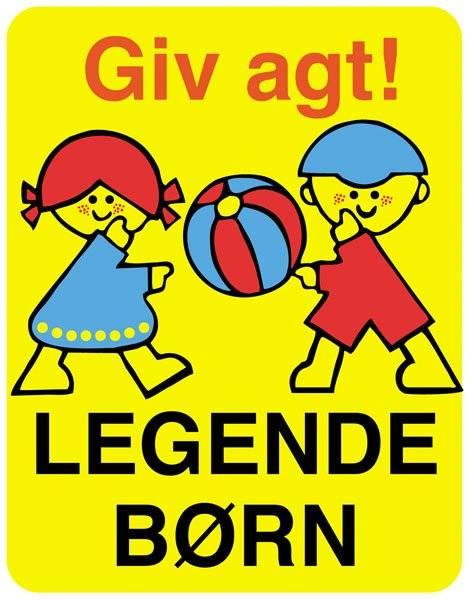Giv agt legende børn. Skilt