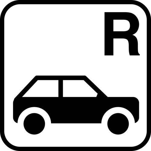 Reservation Bil - piktogram skilt