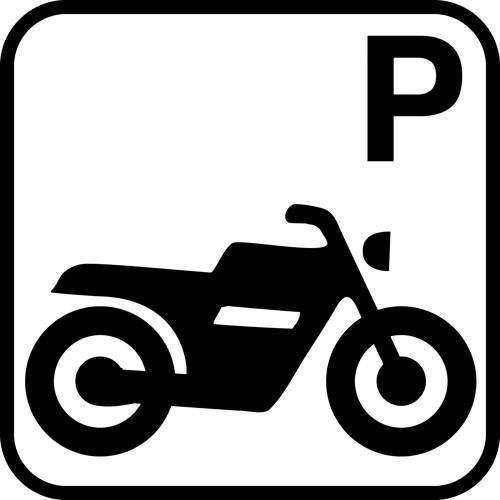 Motorcykel P - piktogram skilt