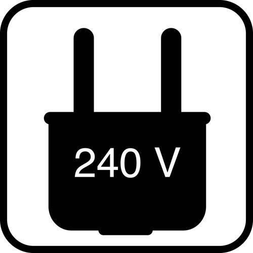 Stikkontakt 240V - piktogram skilt