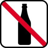 Flaske forbud - piktogram skilt