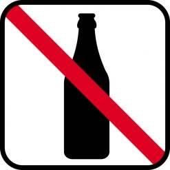 Alkohol forbudt skilte