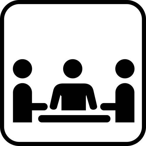 Møde - piktogram skilt