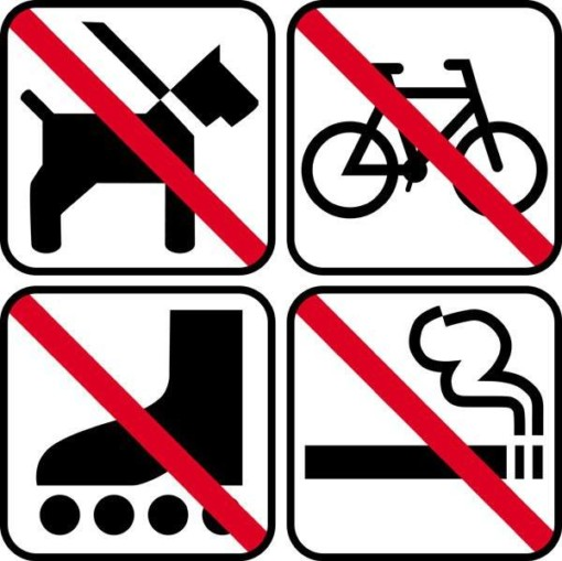 Forbuds pic - piktogram skilt