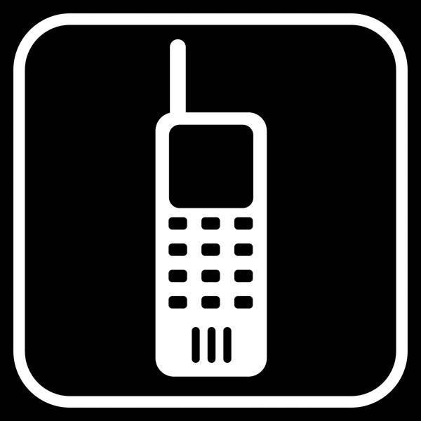 Mobiltlf sort forbudt - piktogram skilt