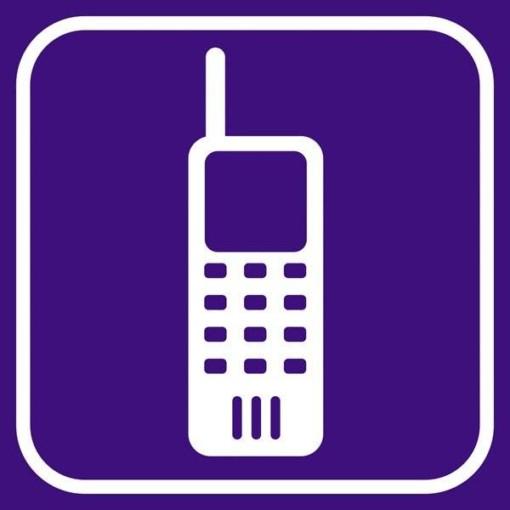 Mobiltlf Violet - piktogram skilt