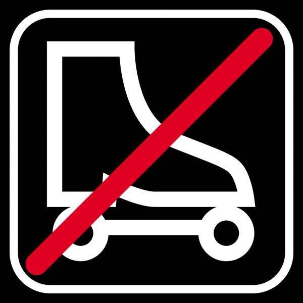 Rulleskøjte forbud sort