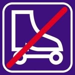 Rulleskøjter forbudt skilte