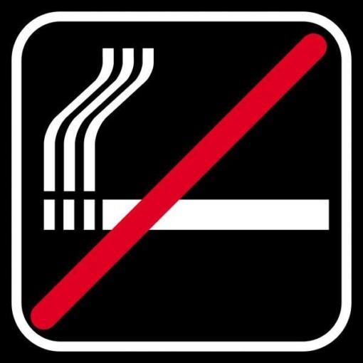 Ryge sort forbud - piktogram skilt