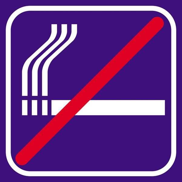 Ryge violet forbud - piktogram skilt