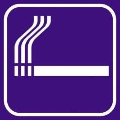 Ryge violet - piktogram skilt