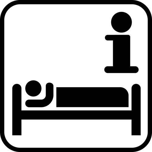 Overnatning information - piktogram skilt