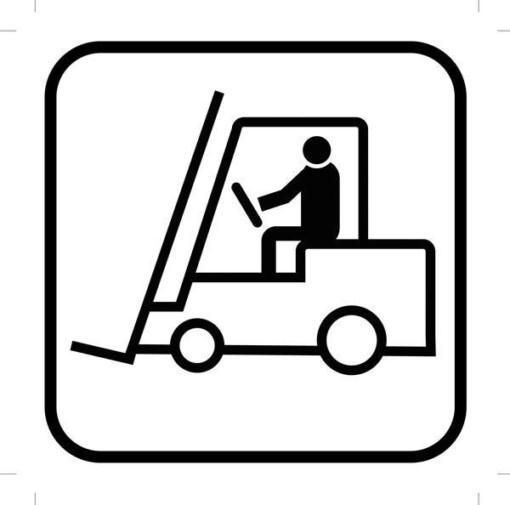 Truck piktogram - piktogram. skilt