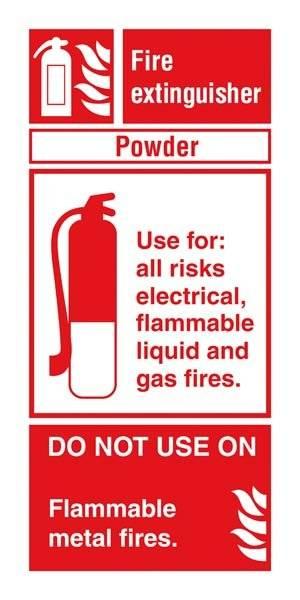Fire Extinguisher Powder: Brandskilt