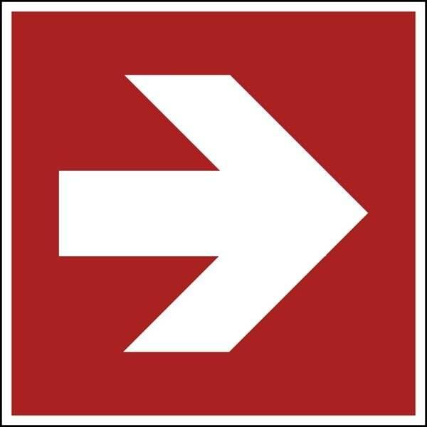 Fire protection arrow 1 ISO 7010. skilt