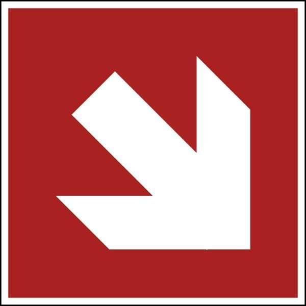 Fire protection arrow 2 ISO 7010. skilt