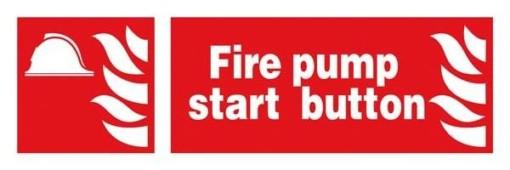 Fire Pump Start Button : Brandskilt
