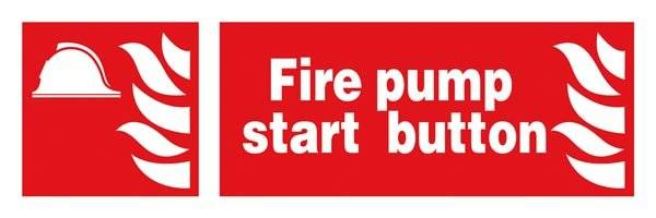 Fire Pump Start Button : Brandskilt
