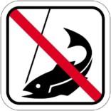 Fiskeri forbudt - piktogram skilt
