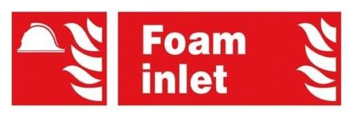 Foam Inlet: Brandskilt