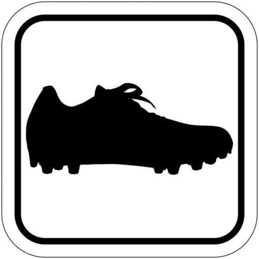 Fodboldstøvle piktogram skilt