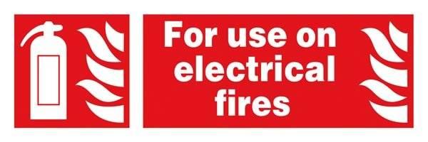 For Use On Electrical Fires : Brandskilt