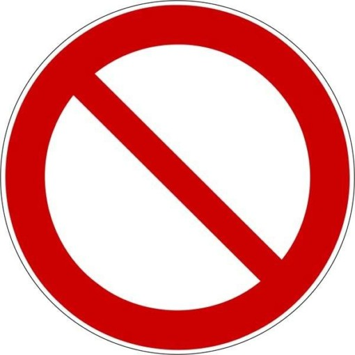 Forbudsskilt ISO_7010_P001. Forbudsskilt