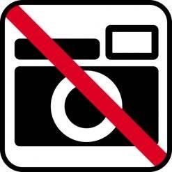Foto forbud skilte