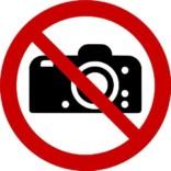 Foto forbudt ISO_7010_P029. Forbudsskilt