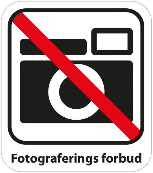 Fotograferings forbud Piktogram skilt