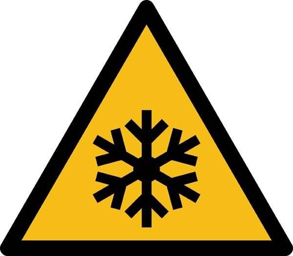 Frostfare ISO_7010_W010. Advarselsskilt