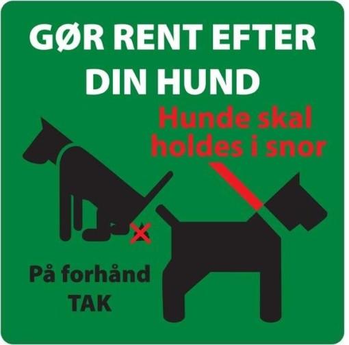 Gør rent efter din hund. Hundeskilt