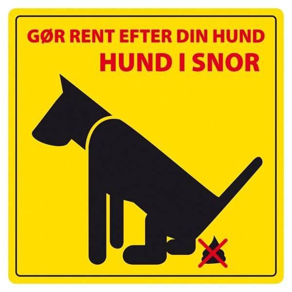 Gør rent efter din hund hund i snor . Hundeskilt