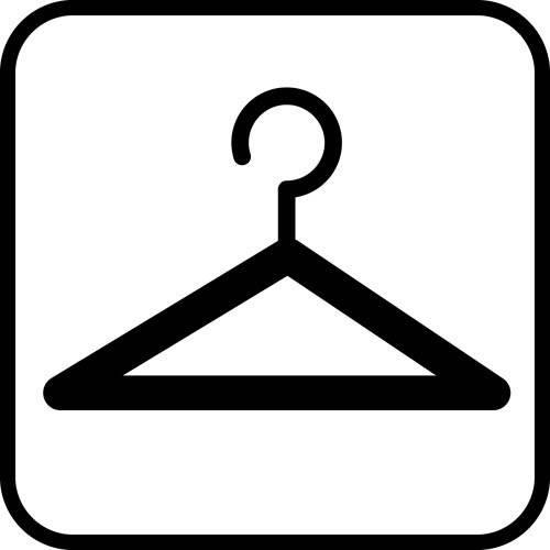 Garderobe - piktogram skilt
