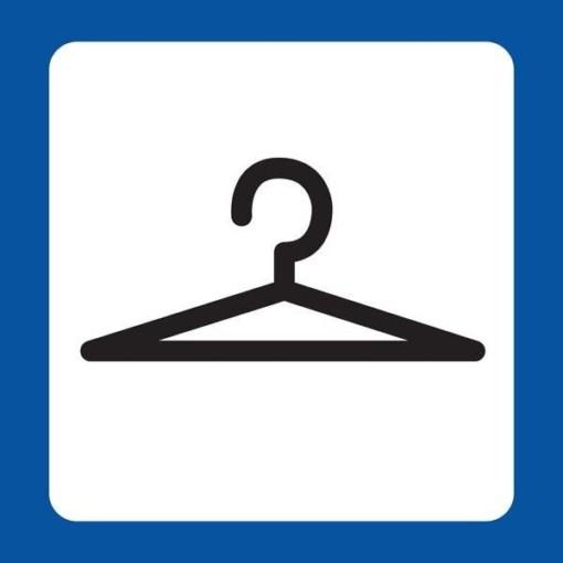 Garderobe Piktogram skilt