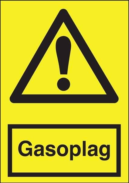 Advarselsskilt - Gasoplag