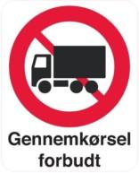 Gennemkørsel forbudt skilt