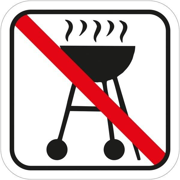 Grill forbudt - Piktogram skilt
