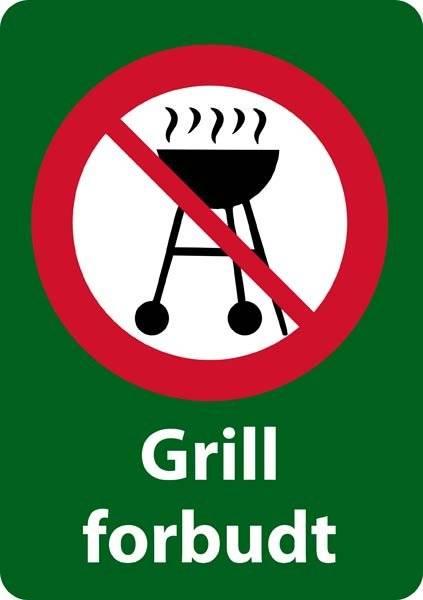 Grill forbudt forbudsskilt