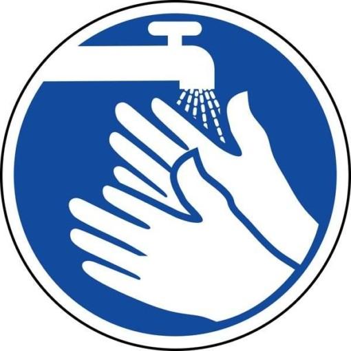 Håndvask påbudsskilt