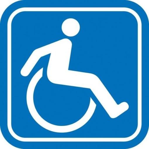 Handicap toilet piktogram skilt