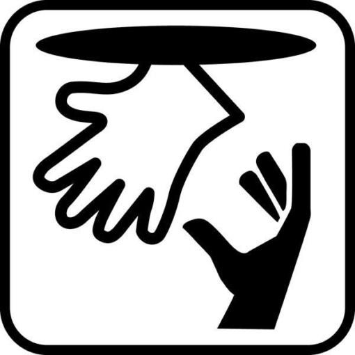 Handsker - piktogram. skilt
