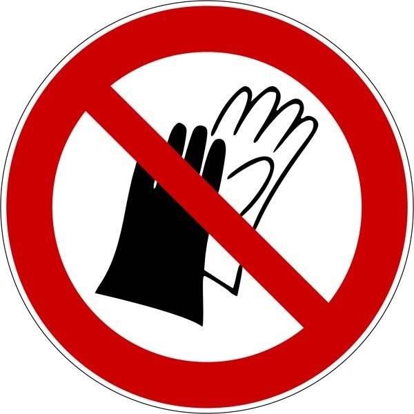 Handske forbudt Skilt