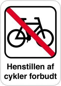 Henstillen af cykler forbudt Skilt
