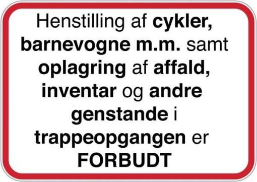 Henstilling af cykler