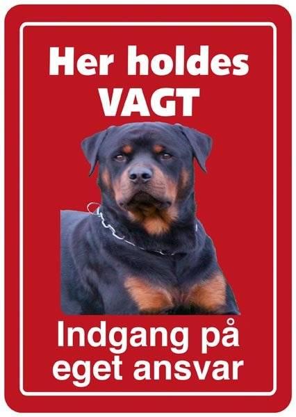 Hundeskilt - Her holdes vagt Indgang på eget ansvar