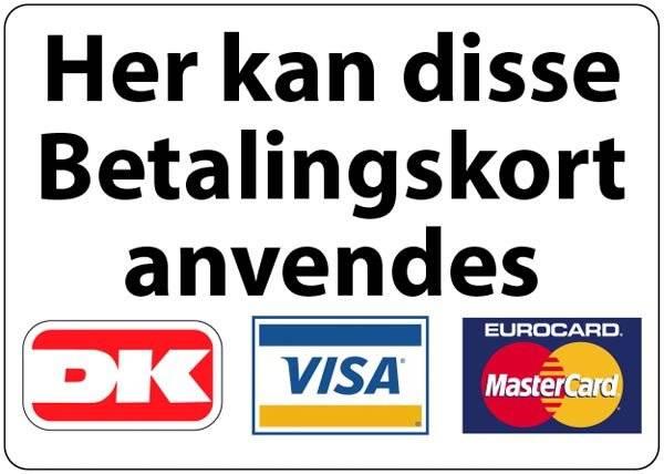 Her kan disse betalingskort anvendes skilt